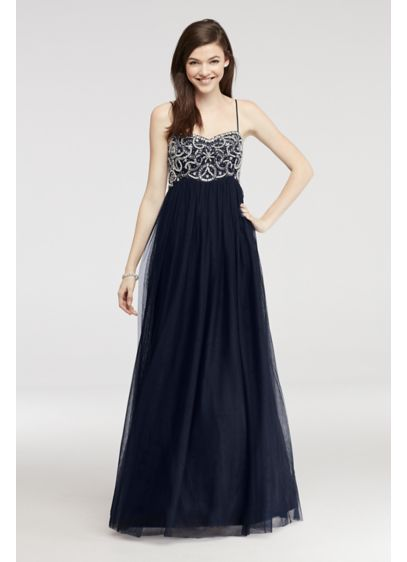 Long Ballgown Strapless Quinceanera Dress - Blondie Nites