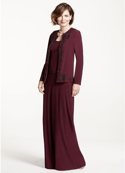 Long Sheath Jacket Mother and Special Guest Dress - Cachet