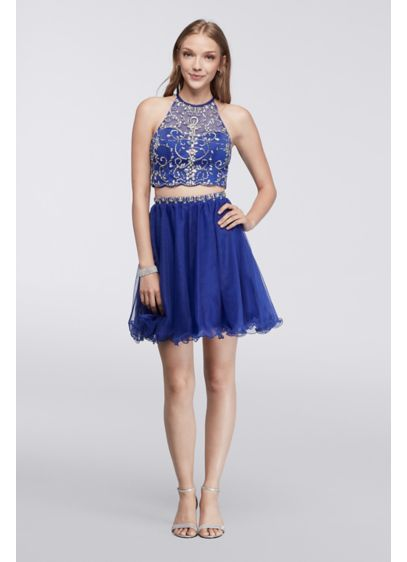 Short Ballgown Halter Quinceanera Dress - Blondie Nites