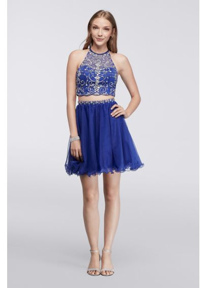 Homecoming Halter Crop Top and Matching Skirt 56610