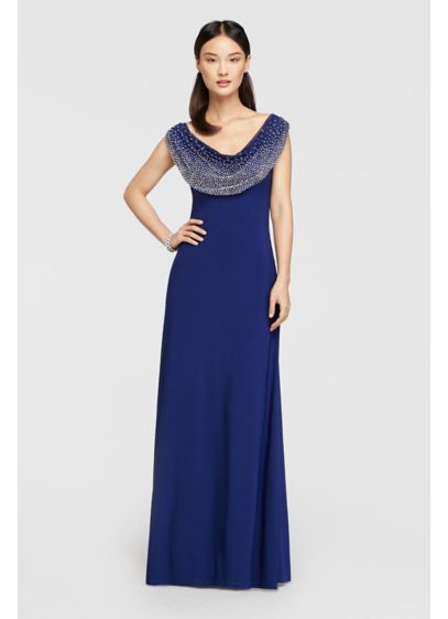Long Sheath Tank Military Ball Dress - Cachet