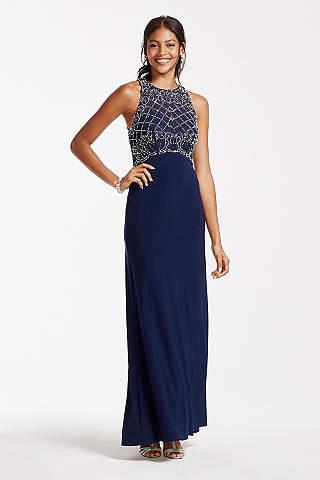 Navy blue formal long dress