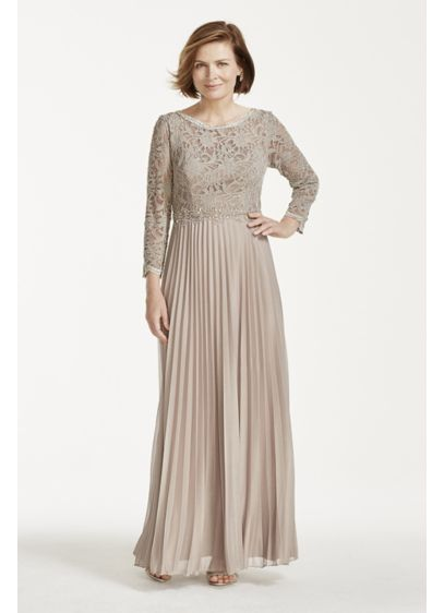 Long A-Line 3/4 Sleeves Mother and Special Guest Dress - Cachet