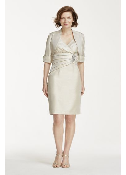 Short Sheath Jacket Mother and Special Guest Dress - Cachet