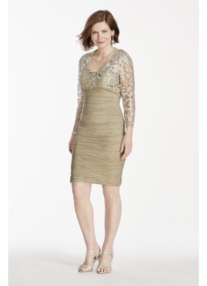 Short Sheath Jacket Cocktail and Party Dress - Cachet