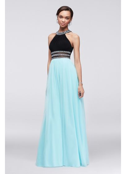 Long Ballgown Halter Prom Dress - Blondie Nites