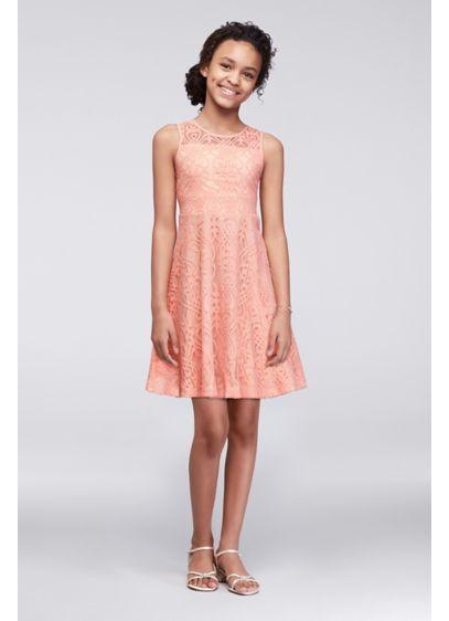 Short Orange Soft & Flowy Marmellata Bridesmaid Dress