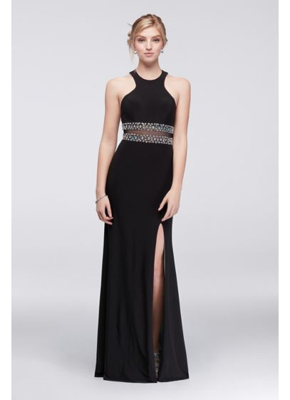 Long Sheath Halter Formal Dresses Dress - Blondie Nites