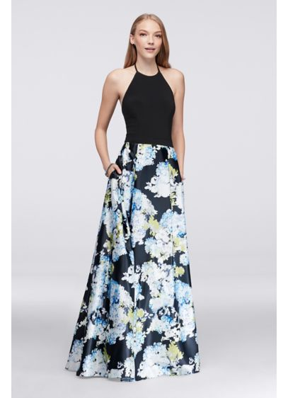 Long Ballgown Halter Formal Dresses Dress - Blondie Nites