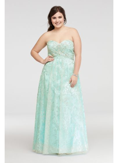 Long Ballgown Strapless Quinceanera Dress - Cachet