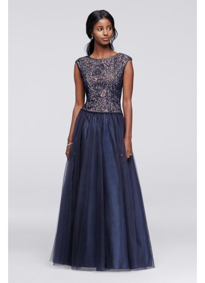 Long Ballgown Cap Sleeves Mother and Special Guest Dress - Cachet