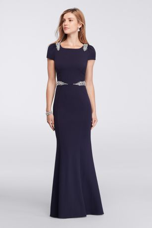 Long Dresses with Cap Sleeves