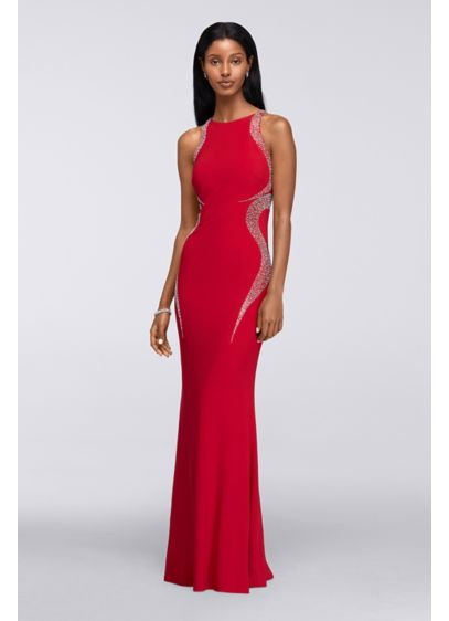Long Sheath Halter Formal Dresses Dress - Cachet