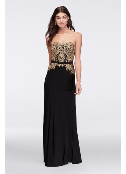 Long Sheath Strapless Military Ball Dress - Cachet