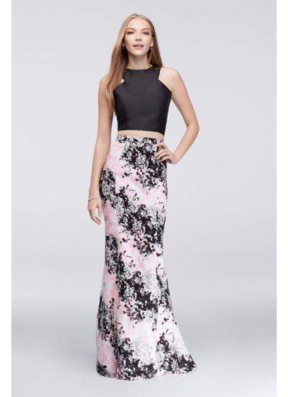 Long Mermaid/ Trumpet Halter Prom Dress - Cachet