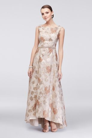 champagne t length dress