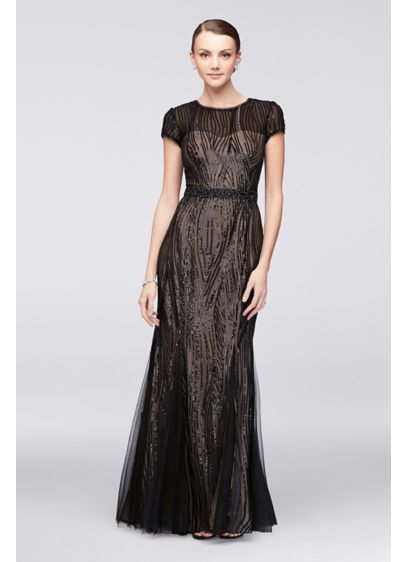 Long Black Soft & Flowy Cachet Bridesmaid Dress