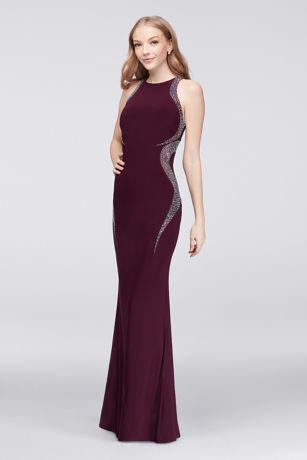 Gold v neck prom dresses 50