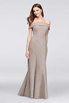 David's Bridal Champagne Dress