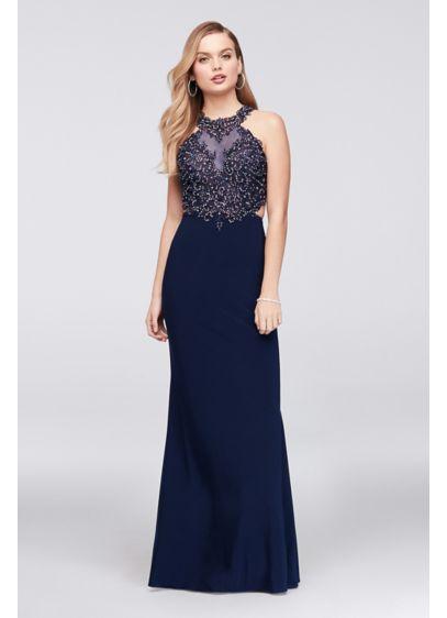 Long Mermaid/ Trumpet Halter Formal Dresses Dress - Cachet