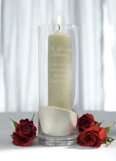 Personalized Memorial Glass Cylinder 59741