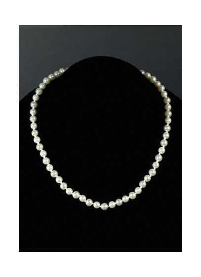 Classic Pearl Hand-Knotted Necklace - Wedding Accessories