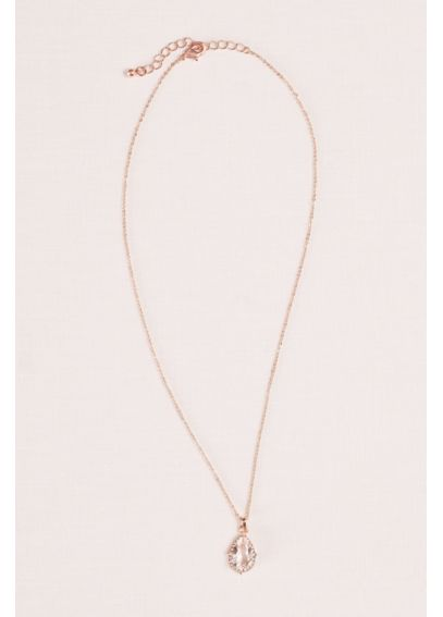 Pear Stone Necklace 60252NSS