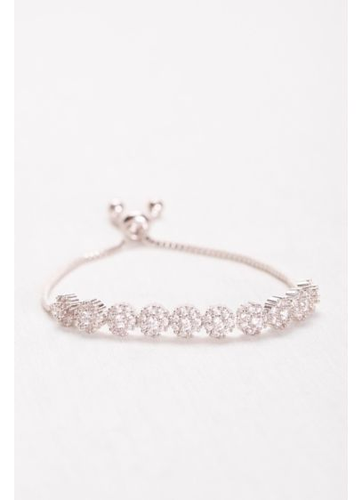 Pave Cirlcles Cubic Zirconia Pull Bracelet - Wedding Accessories