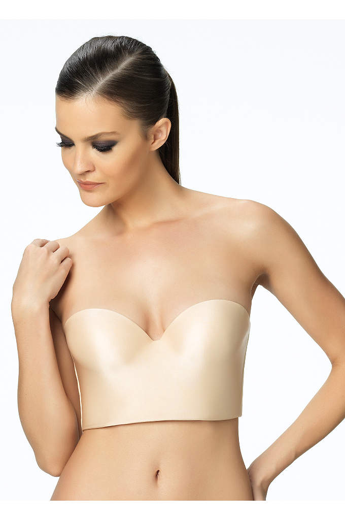 Felina Essentials Longline Strapless Convertible - Felina Essentials seamless push-up cup. Covertible straps provide