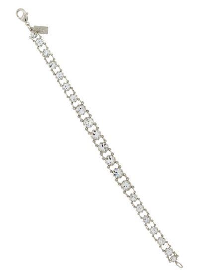 Round Swarovski Crystal Strand Bracelet - Wedding Accessories