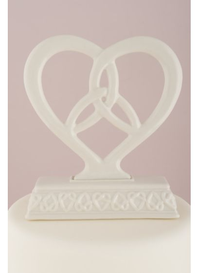 Heart Framed Trinity Knot Cake Topper - Wedding Gifts & Decorations