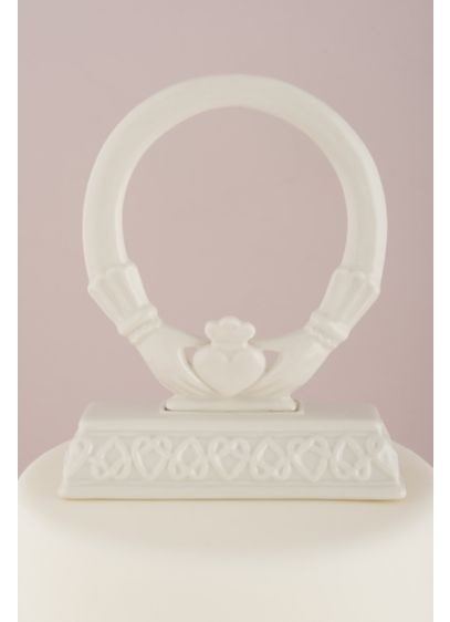 Traditional Celtic Claddaugh Cake Topper - Wedding Gifts & Decorations