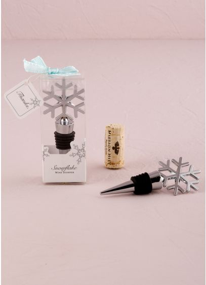 Snowflake Shaped Wine Stopper - Wedding Gifts & Decorations