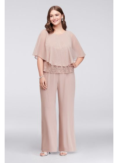 Long Jumpsuit Capelet Mother and Special Guest Dress - Ignite