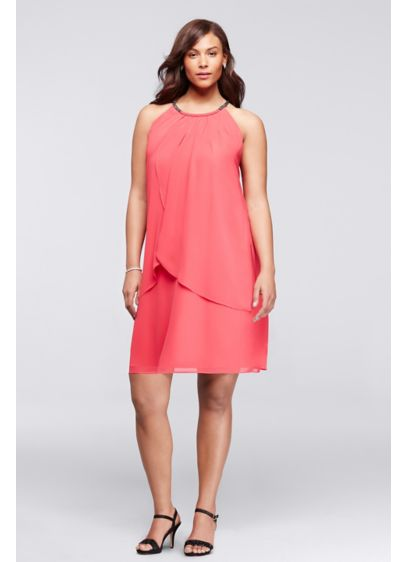 Short A-Line Halter Cocktail and Party Dress - Ignite