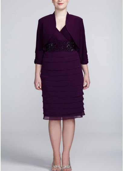 Short Sheath 3/4 Sleeves Mother and Special Guest Dress - Ignite