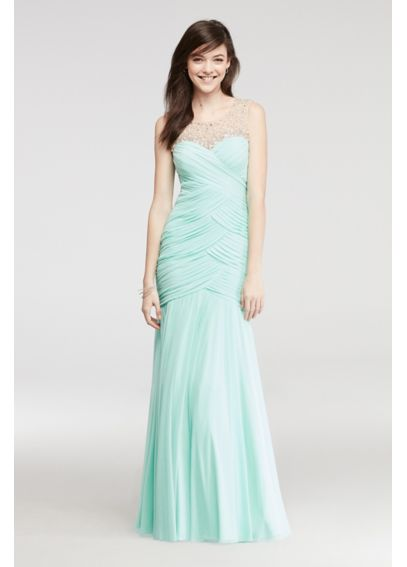 Mermaid Prom Dress with Beaded Illusion Tank 6226FR2C