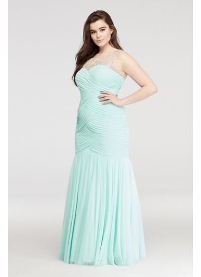 Long Mermaid/ Trumpet Tank Prom Dress - City Triangles
