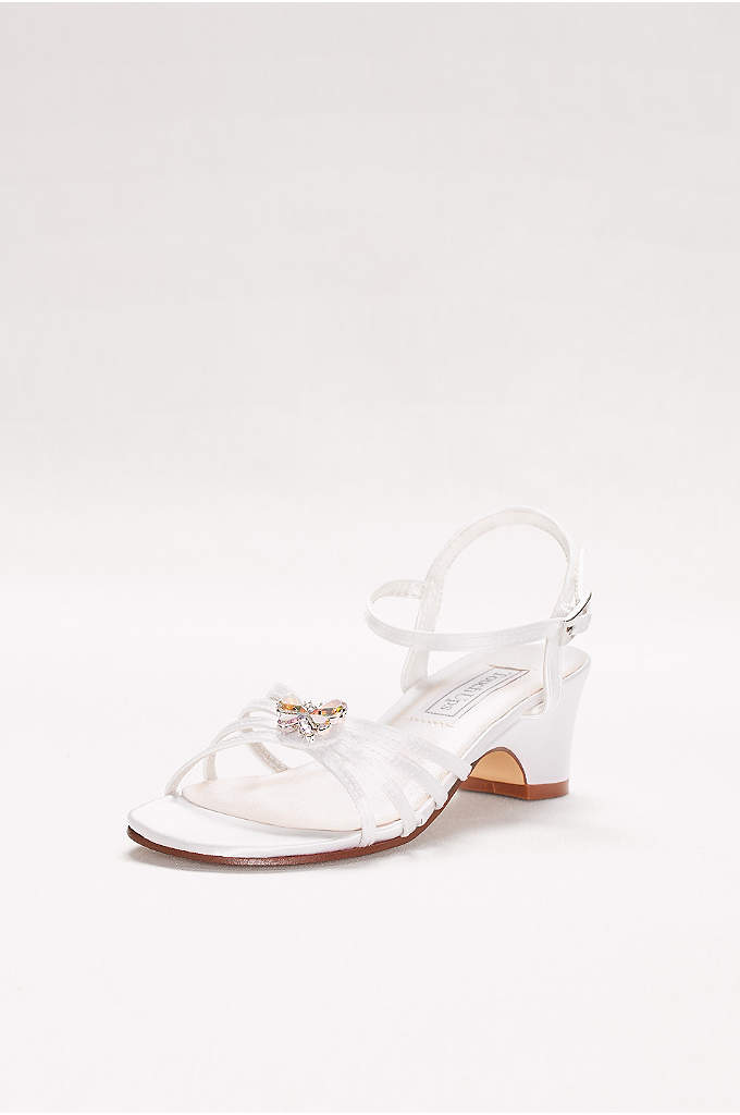 Girls Dyeable Betsy Sandals with Crystal Ornament - The little miss in your life is sure