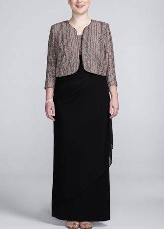 Drizzle Glitter Dress with Side Drape - Sophisticated and chic, this dress is sure to