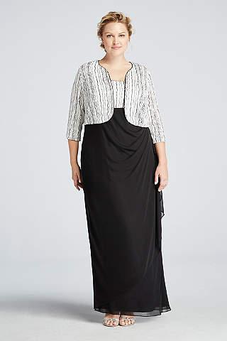 Plus Size Black Dresses | David\'s Bridal