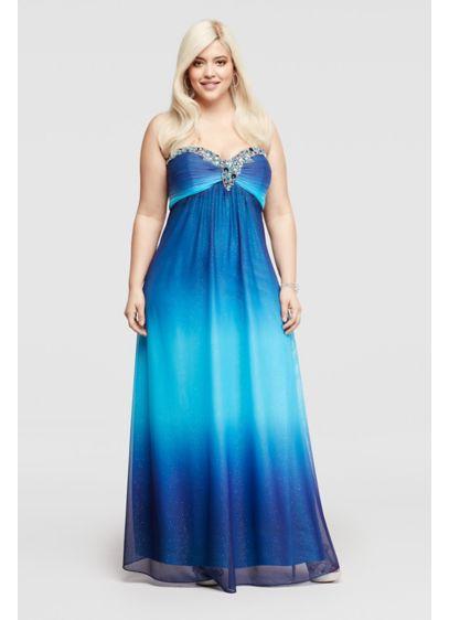 Long A-Line Strapless Prom Dress - Jump