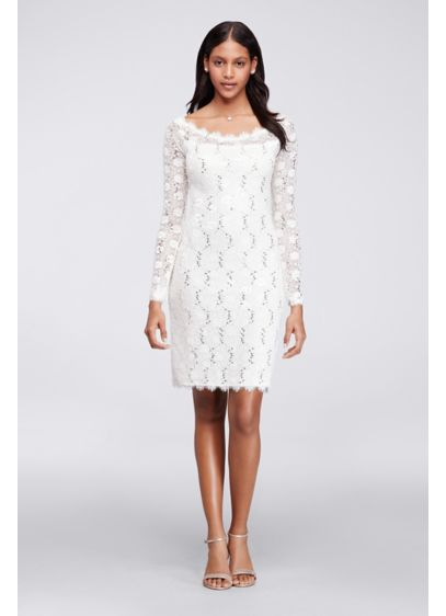 Short Sheath Long Sleeves Cocktail and Party Dress - Jump