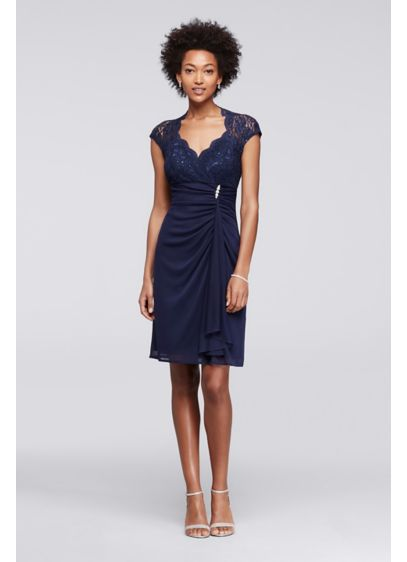 Short A-Line Cap Sleeves Cocktail and Party Dress - Jump
