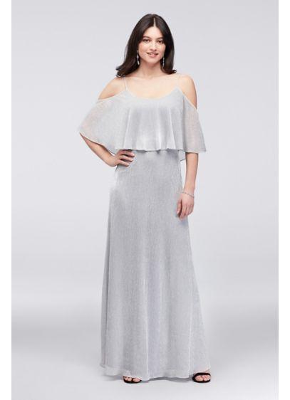 Long A-Line Off the Shoulder Formal Dresses Dress - Onyx