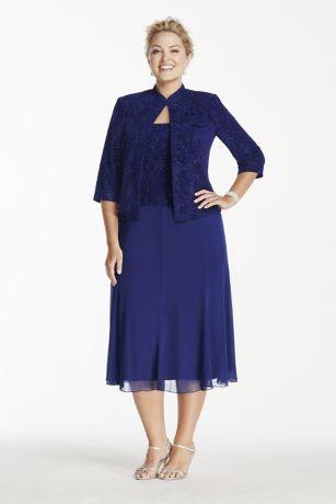 Alex Evenings Tea Length Dress