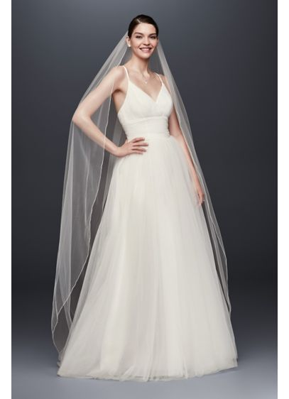 Chapel Length Veil with Pencil Edge - Wedding Accessories