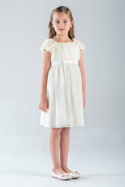 Petal-Sleeve Chiffon A-Line Flower Girl Dress | David's Bridal