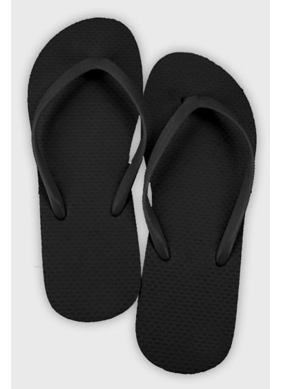 Black (Wedding Flip Flop Favors Set of 6)