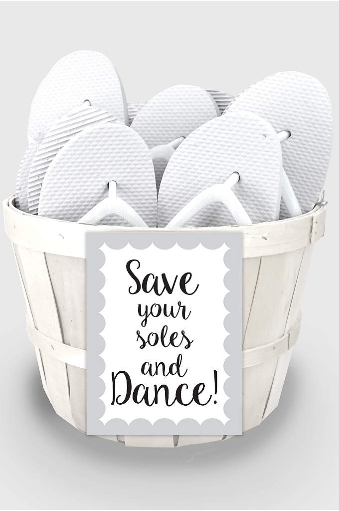 Wedding Flip Flop Favors Set of 6 - Your guests will absolutely FLIP over these Wedding